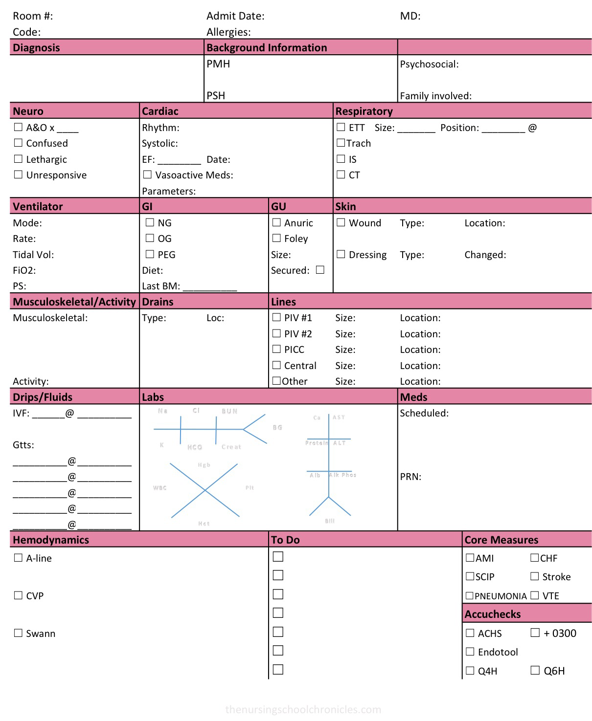 Downloadable Report Sheet for ICU
